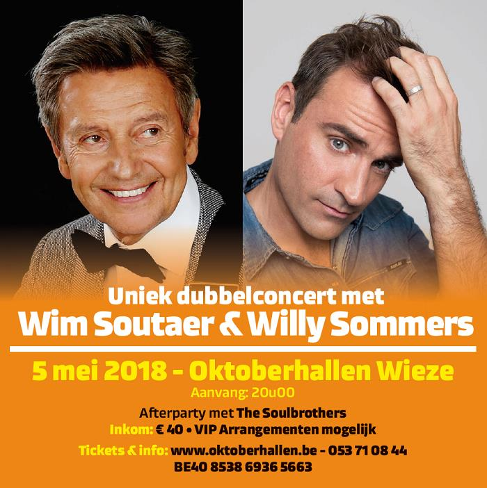 Wim Soutaer en Willy Sommers (hal A)